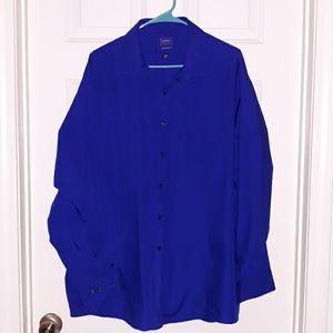 Arrow classic fit size 18 royal blue button shirt